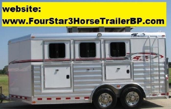n 2012 4-Star 3 Horse Trailer BP