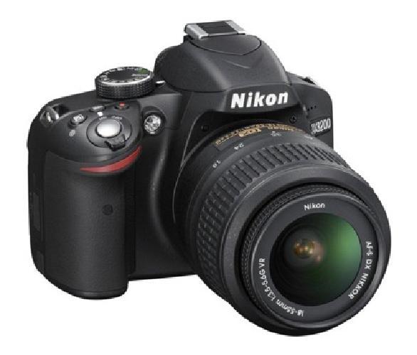 NEW Nikon D3200 24.2 MP CMOS Digital SLR with 18-55mm f/3.5-5.6 AF-S DX VR NIKKO