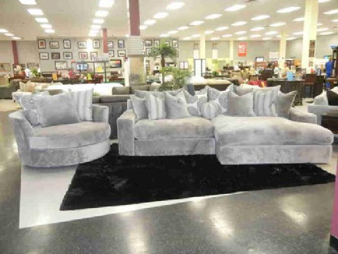 Plush Extra Deep New Quot Encore Quot Sectional And Swivel Cuddler