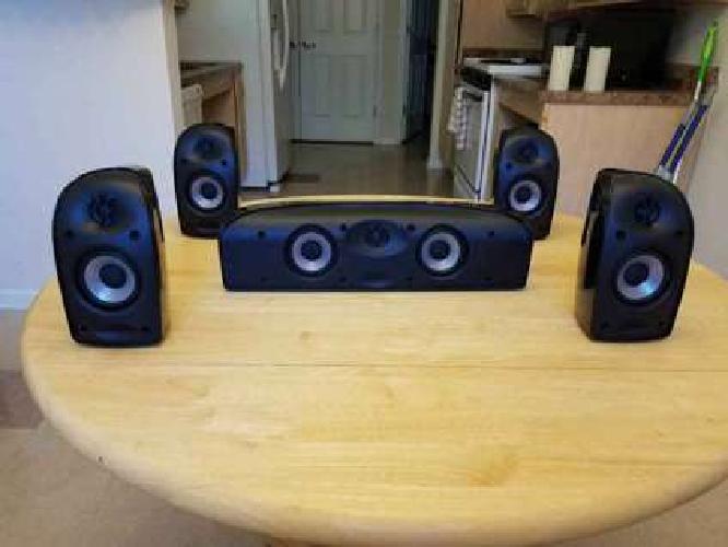 Polk Audio Blackstone TL150 5-piece surround sound speaker set.-
