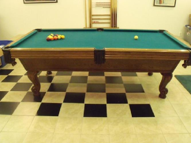 Pool Table - Vintage - Previously Owned - Pristine Condition
