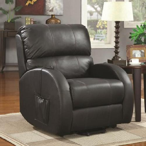 Power Lift Recliner - Leather - Black