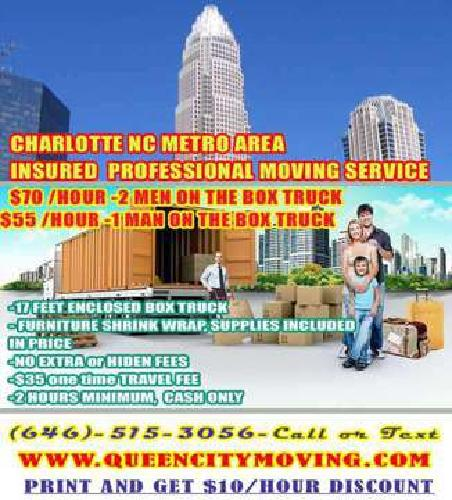Professional Moving Service from $45/Hour- Get a $10/Hr Discount