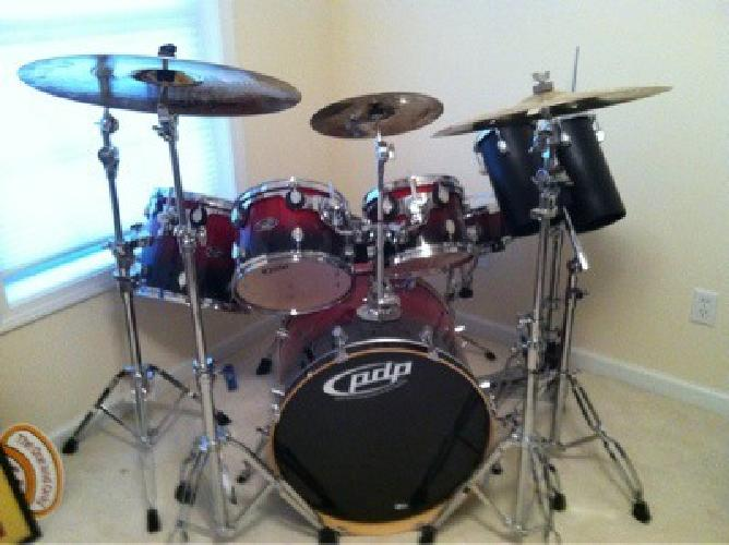 red pdp drum kit lx series pacific 1800 for sale in north haven connecticut classified. Black Bedroom Furniture Sets. Home Design Ideas