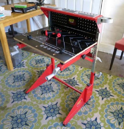 Red Toolbox Work Bench
