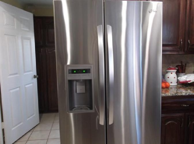 Refrigerator Stainless Steel Double door LG