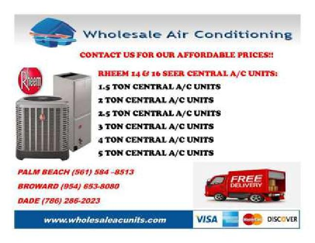 Rheem & Goodman Central Air Conditioners