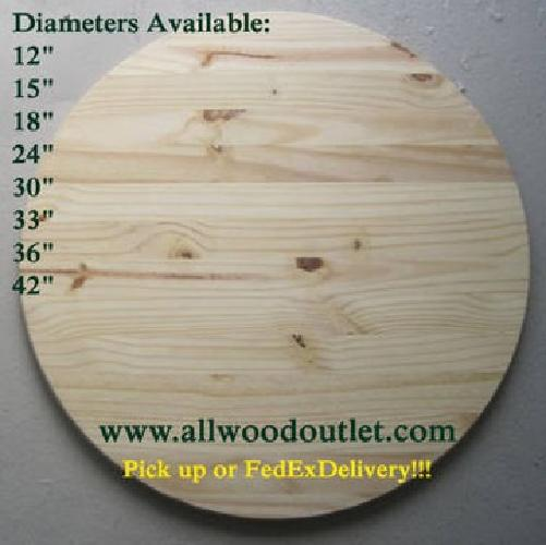 Round Table Tops Unfinished Pine For Sale In Stamford
