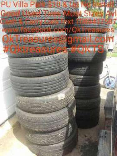 Sets-Pairs Used Tires For Sale Many Sizes Avl-PU Oakbrook $15 & Up 708943QKTS (7