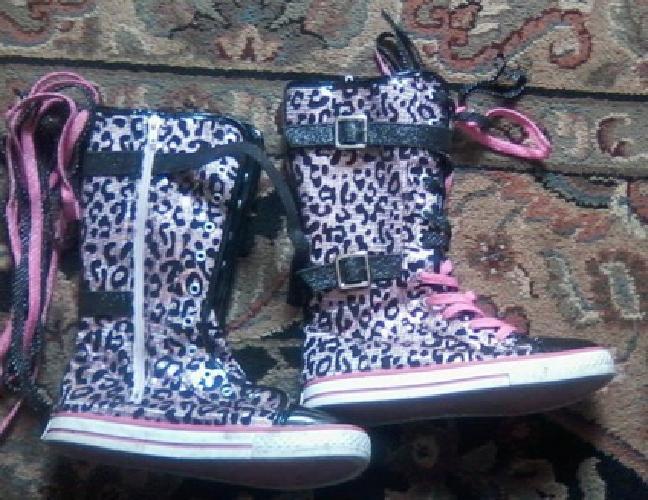 Size 5 Leopard Print Sparkle Boots