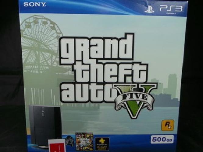 Sony Playstation 3 PS3 GTA V Grand Theft Auto V Bundle 500GB +