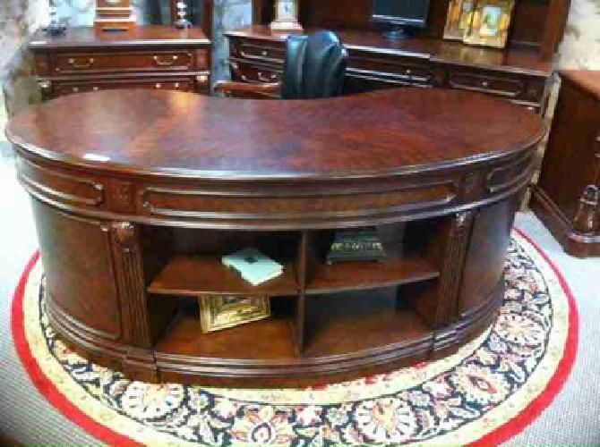 Stunning Kidney Executive Desk Desks Houston For Sale In