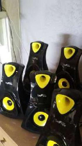 Surround Sound Bluetooth Speaker System 5.1 Channel BLK/YLW NEW Befree Sound