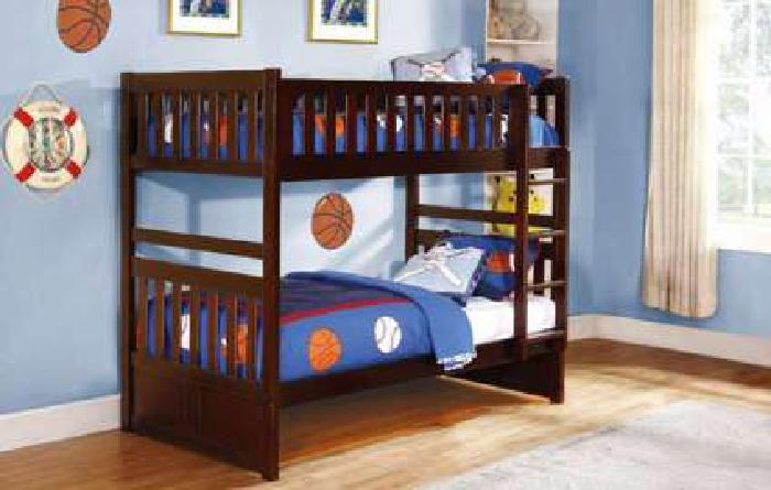Twin Over Twin Bunkbed Rowe collection