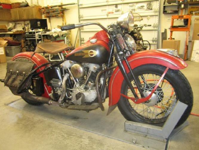 Vintage Harley Knuckle Head, 1939 EL Not Original Paint