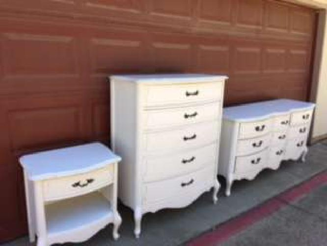 Vintage Refinished French Provincial Bedroom Set