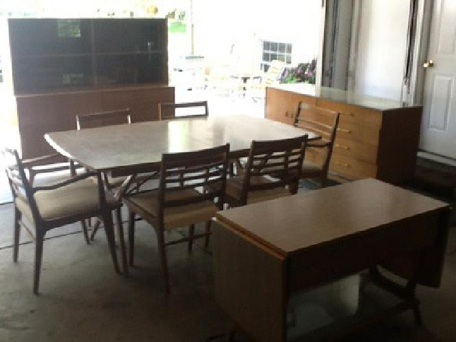 Vintage rway mid century dining room set complete for for R way dining room furniture