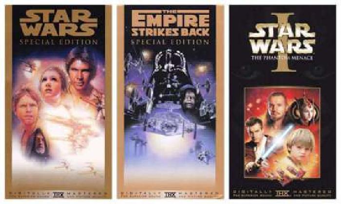 Vintage STAR WARS VHS: 3 Tape SET