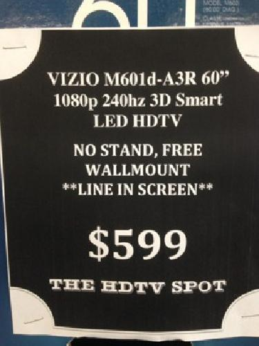 VIZIO M601d-A3R 60-Inch 1080p 240hz 3D Smart LED HDTV w/ Free Wall Mount