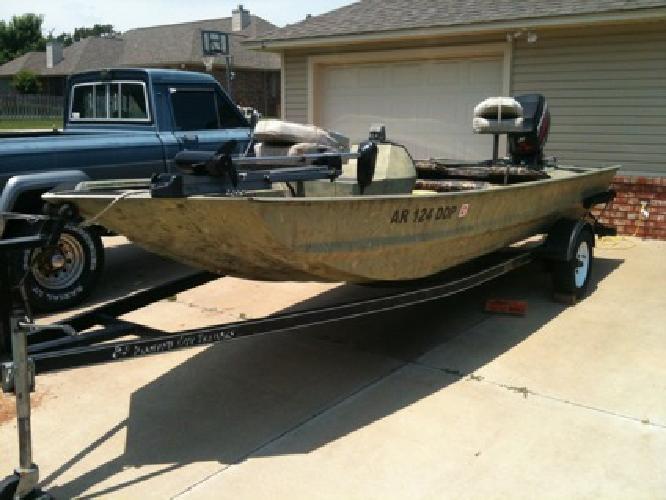 War Eagle 754 17foot Boat*Brute Trolling Motor*60hp Mercury Elect Start*Cust Tra
