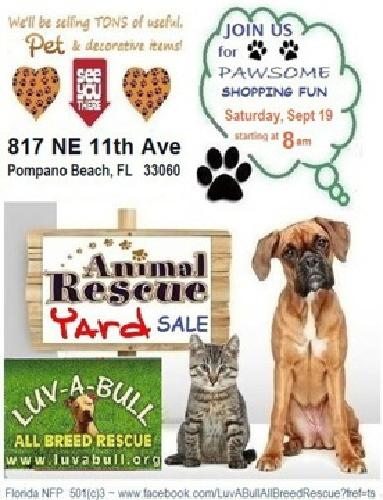 Yard Sale to benefit Animal Rescue