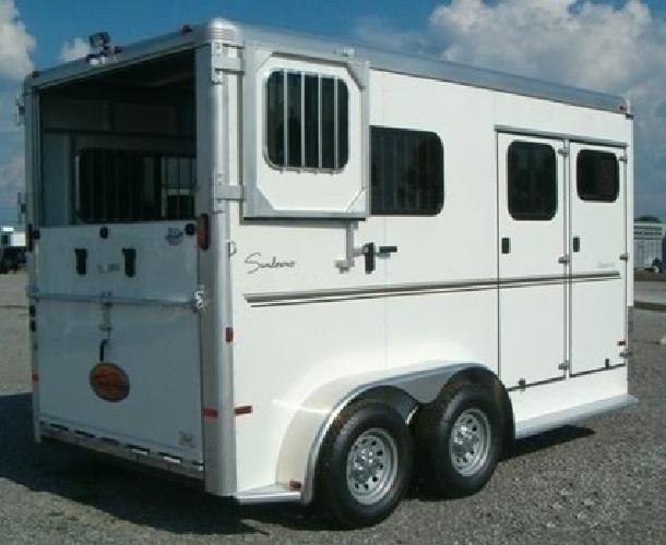 yjm 2013 Sundowner 2 Horse Trailer Charter TR SE