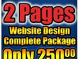 2 Pages Custom Website Design Ready for Marketing