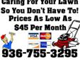 Lawn Care With Care Lake Livingston